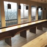 22' Heirloom Big Sky Live Edge Shuffleboard Table