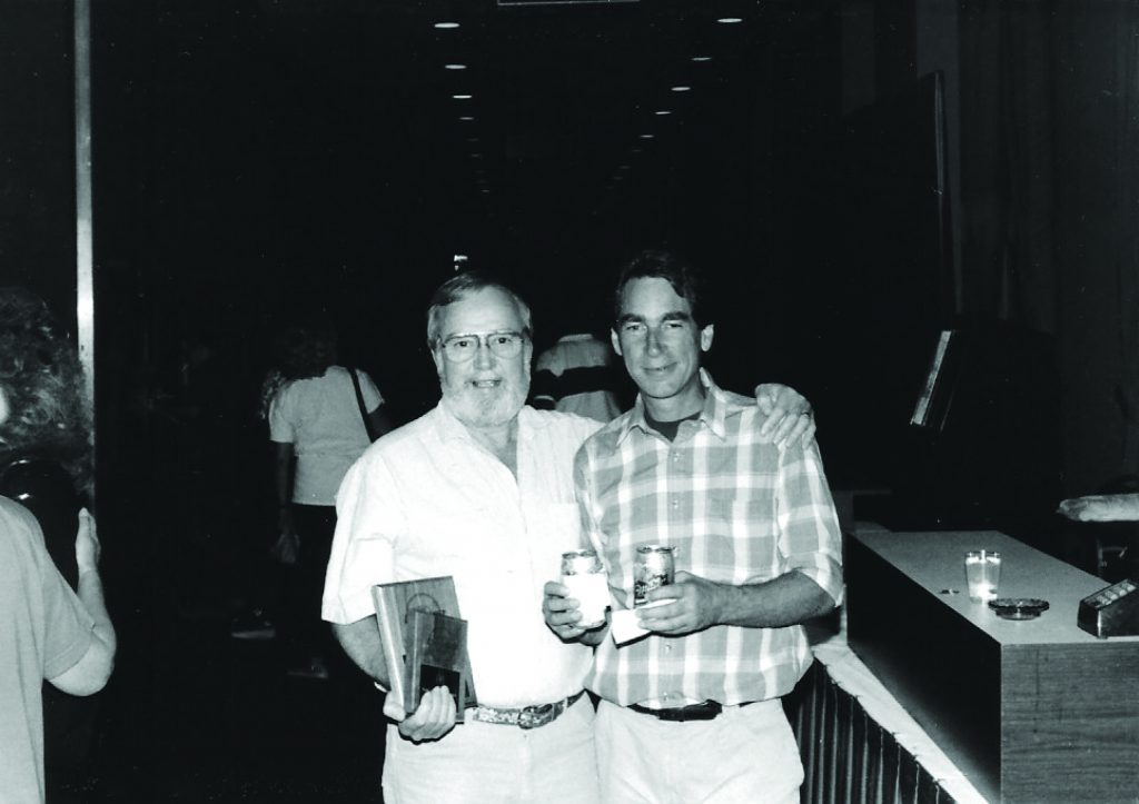 Two of the top ten players in Table Shuffleboard history, Glen Davidson (L) on Darrol Nelson (R).
